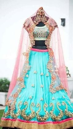 Beautiful Bridal Lehengas | Buy online Half sarees | Elegant Fashion Wear