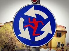 STREET ART AND ROAD SIGNS – CLET ABRAHAM