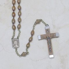 Lourdes Rosary   Vintage Wood by AuntRitz on Etsy, $12.00
