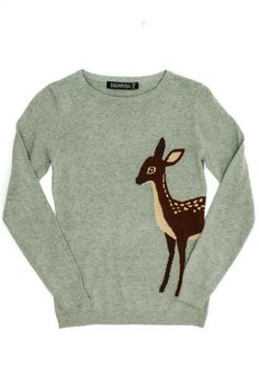 Bambi Sweater by Sugar Hill. So super cute for a casual day Winter Wardrobe, My Wardrobe, Beautiful Outfits, Cute Outfits, Sweater Weather, Fox Sweater, Dress Me Up, Playing Dress Up, Passion For Fashion