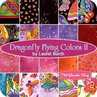 Dragonfly Flying Colors II Fat Quarter Bundle Laurel Burch for Clothworks Fabrics