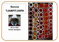 Ronnie Tjampitjinpa - Portrait d'artiste - ALL Pin Art Lessons For Kids, Art For Kids, Art Montessori, Classe D'art, Art Worksheets, Aboriginal Artists, Ecole Art, Indigenous Art, Baby Art