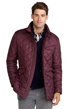 Quilted jacket Brooks Brothers - Burgundy ($400) [Quilted Jacket]