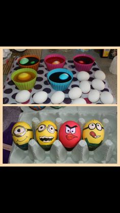 Easters . Eggs . Minions and angry birds. Kids Easter eggs