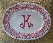 Vintage monogrammed K plate....love!