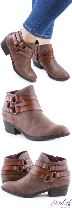 77dceea267fff Blowfish Shoes ankle bootie Sanger in whiskey