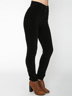 Slim, high-waist pants constructed from soft stretch velvet that molds to the shape of your body for a flattering fit.