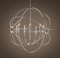 Play Room/Foucault's Orb Chandelier Polished Nickel/$795