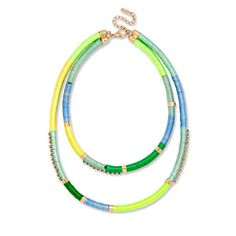 19 Pieces of Standout Festival Jewelry - BaubleBar Colorblock Thread Strands from #InStyle