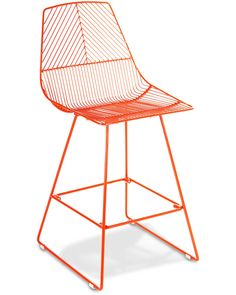 Johnny wire bar stool - orange, 65cm - Cintesi