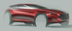 Doodle on Behance Car Design Sketch, Car Sketch, Rendering Techniques, Design Exterior, Automotive Design, Auto Design, Futuristic Cars, Cool Sketches, Transportation Design