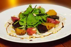 Beets are not only delicious, nutritious, and in season, they make a great centerpiece for this tasty, gluten-free vegetarian dish that is sure to please.