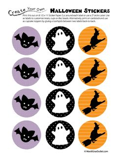 Halloween stickers-  free printable download