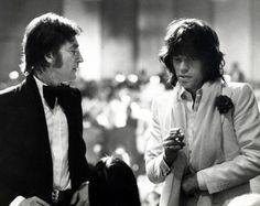 John Lennon and Mick Jagger, 1974, by Ron Galella