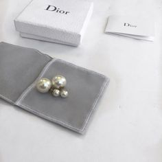 Christian Dior Tribal Earrings Christian Dior Mise En Dior Trubal Earrings. Faux white pearls, gold tone with clutch back closures. Includes box, dust bag, and authenticity card. NO TRADES Dior Jewelry Earrings