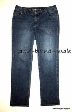 bbbbdf112f9 LANE BRYANT Genius Fit STRAIGHT Leg Jeans Womens PLUS 16 TALL 1X Dark Denim  Wash