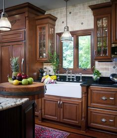 perfect farmers sink + cabinets to die for