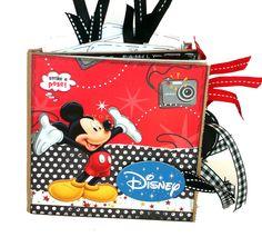 Disney Vacation Fun Scrapbook -  Paper Bag Album.