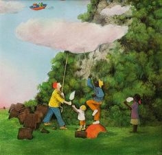 Candy Floss Clouds Kurelek