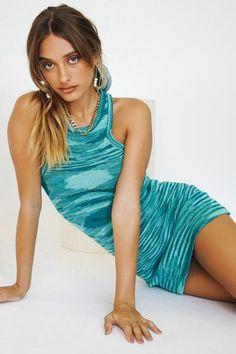 On The Horizon Knit Mini Dress // Aqua – Verge Girl Get Dressed, Knitted Fabric, Knit Dress, Aqua, Girls Dresses, Stylists, Knitting, Mini, Pretty