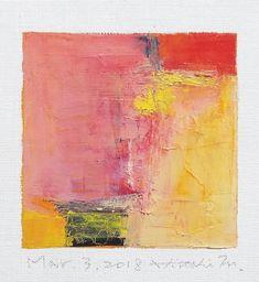 Dit is een originele Abstract olieverfschilderij door Hiroshi Matsumoto Titel: Mar. 3, 2018 Grootte: 9.0 x 9.0 cm (app. 4 x 4) Canvasgrootte: 14.0 x 14.0 cm (app. 5.5 x 5,5) Media: Olieverf op doek Jaar: 2018 Schilderij is gematteerd gebroken wit aan 8 inch x 10 inch standaard