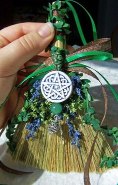 Earthy Witch Broom Charm/Ornament/Decor - March Madness Sale - 50 percent off Magick, Witchcraft, Wiccan Crafts, Witch Broom, Broom Corn, Book Of Shadows, Earthy, Projects To Try, Creations