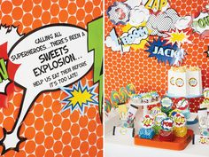 superhero-vintage-bright-sweets-table