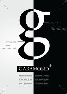 garamond poster - Google 검색                                                                                                                                                      More  Puedo hacer un contraste  en la letra