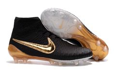 97993080f1a 2016 Nike Magista Obra Black Gold ACC FG Soccer Boots Gold Football Cleats