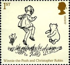 Christopher Robin, Piglet and Pooh~ I love this so much! <3<3