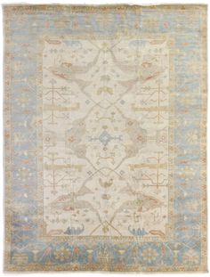 The Oushak collection, celebrated for its understated elegance, is greatly influenced by original antique Turkish Oushaks. Every Oushak reproduction is hand knotted by master weavers capturing the look and spirit of the original Oushaks. Artfully...