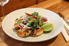 Thai fishcakes - can be served as canapés