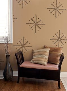 Wall Stencil | African Ibo Pinwheel | Royal Design Studio