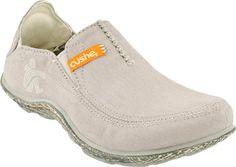 Mens Cushe Surf Slipper Loafer Canvas Shoe (Light Gray )