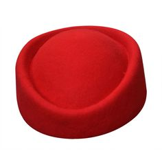 1 pcs Red Cirle Fascinator Base Wool Stewardess Air Hostesses Pillbox... (21 CAD) ❤ liked on Polyvore featuring accessories, hats, red wool hat, red fascinator, woolen hat, fascinator hat and wool hat