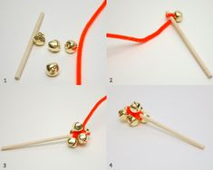 Jingle Bell Stick DIY - cute for a caroling party or just listening to holiday music with kids