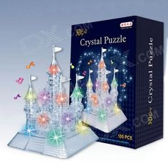 Color: Translucent White; Brand: CQ; Material: Plastic; Quantity: 1 Set; Number: 105; Size: 14 x 14 x 23cm; Suitable Age : 8-11 Years,12-15 Years; Other Features: It shines in colorful lights in the sun; good for present giving; Packing List: 1 x Puzzle toy; http://j.mp/1tpdZxn