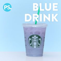 If you are a fan of Starbuckss whole new line of rainbow drinks but dont want to keep running to the store every time you have a craving, well, youre in luck because weve figured out how to make them, and they taste just as good as the originals! Starbucks Blue Drink, Bebidas Do Starbucks, Starbucks Secret Menu Drinks, Starbucks Kids Drinks, Rainbow Drinks, Blue Drinks, Fall Drinks, Starbucks Hacks, Starbucks Frappuccino