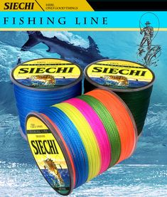 SIECHI Multicolor Extreme Strong Braided Fishing Line Super Strong Multifilament Line Freshwater/Saltwater Fishing - Fishing Gear Shop Fishing Line, Fishing Tackle, Gear Shop, Saltwater Fishing, Fresh Water, Braids, It Cast, The Incredibles, Strong