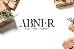 Abner Serif 6 Font Family Creativetacos Other Fonts Slab Serif Fonts, Sans Serif Typeface, Script Fonts, Fancy Fonts, New Fonts, Art Deco Font, Font Packs, Brush Font, Premium Fonts