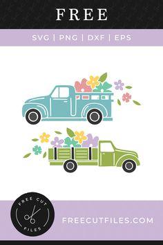 Spring trucks Free SVG vector graphic illustration
