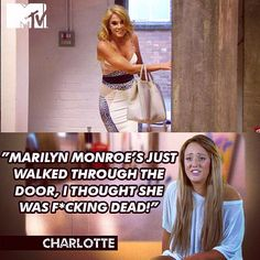 Charlotte. Geordie Shore. Charlotte Crosby, Charlotte Geordie, Geordie Shore Quotes, It Crowd, Funny Qoutes, Reality Tv Shows, Tv Quotes, Mtv, Favorite Tv Shows