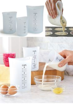 Measuring cups.  These iSi Flexible Measuring Cups are perfect for a precise pour everytime.