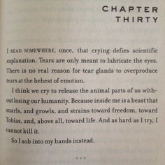 #insurgent Never read this, but this explains so much. This is beautiful