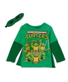 0fb90a44d43 Green  Teenage Mutant Ninja Turtles  Caped Tee  amp