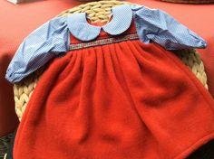 Puppenkleidung-Puppenkleid-rot-f-Gr-42-48-cm-Gesamtlaenge-ca-30-cm