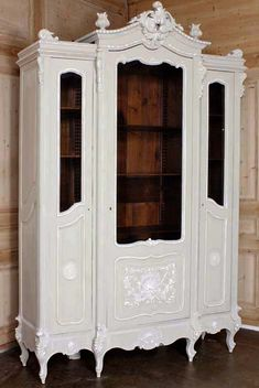Antique Regence Triple Painted Display Armoire #antique #furniture #armoire. Available at www.inessa.com