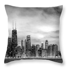 Chicago Gotham City Skyline Black And White Panorama Canvas Print / Canvas  Art By Christopher Arndt Part 83