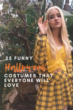 Funny Halloween Costumes, 25 Funny Halloween Costumes That Everyone Will Love Classic Halloween Costumes, Easy Diy Costumes, Halloween Inspo, Last Minute Halloween Costumes, Funny Costumes, Halloween Dress, Funny Halloween, Girl Costumes, Costume Ideas