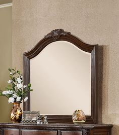 Madrigal Baroque Style Wood-Framed Mirror – Modish Store